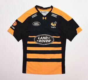 Jersey Wasps Under Armour Heatgear DS Smith Rugby Polo Shirt T-shirt Men's XL