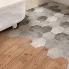 Self-Adhesive Hexagonal Bathroom Waterproof Floor Wall Tiles Stickers DIY HY