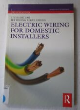 Electric Wiring for Domestic Installers by Brian Scaddan (Paperback, Ex-Library)