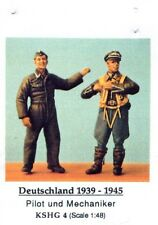 HECKER GOROS KSHG 4 - PILOT UND MECHANIKER DEUTSCHLAND 1939-45 1/48 WHITE METAL