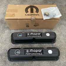 Mopar Performance Black Cast Aluminum Small Block 318 340 Valve Cover P5007611ab