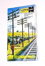 CLASSIC ~ 12 TELEPHONE POLES by BACHMANN ~ N Scale Lot ~ plus extras