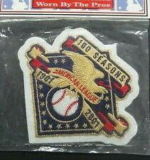 2001 American League Baseball Seasons 100th Anniversary Patch Jersey Sleeve MLB