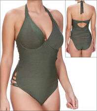 Brand New Freya Glam Rock Halter Neck Swimsuit 3842 Size 30F Olive Green  SALE