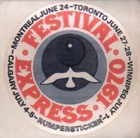 GRATEFUL DEAD / JANIS JOPLIN 1970 FESTIVAL EXPRESS CANADIAN TOUR RUMPER STICKER