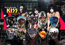 KISS (3) guitar picks on photo display