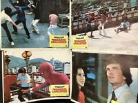 Rare 1980 SPIDER-MAN THE DRAGON'S CHALLENGE LOBBY CARDs Set Of 4 Vintage