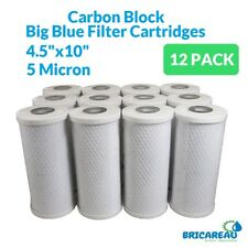 "12PK of Big Blue 5µm Coconut Shell Carbon Block Water Filter Cartridge 10""x4.5"""