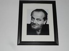 "Framed Jack Nicholson 1990's Head Shot with Beard Poster Glass Frame 14"" by 17"""