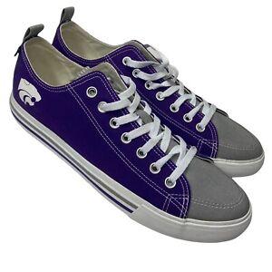 Kansas State Wildcats - Purple SKICKS Low Top Canvas Shoes (Mens Size 12) Unisex