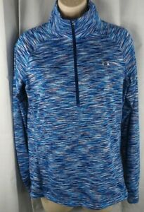 Under Armour UA AllseasonGear Semi-Fitted 1/2 Zip Long Sleeve Shirt Top Med #119