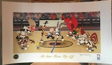 Signed Lithograph Print ALL-STAR TOON TIP OFF Looney Tunes Warner Bros & NBA