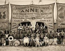 CIRCUS SIDESHOW ODDITIES VINTAGE PHOTO HAGENBECK-WALLACE MIDWAY 1931 8x10 #22076