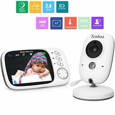 """Baby Monitor With Camera Video Baby Monitor Wireless Tenboo 3.2"""" Lcd Digital Scr"""