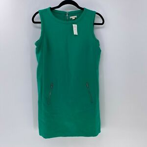 Gap designed & crafted moto shift dress sz 4P NWT Green