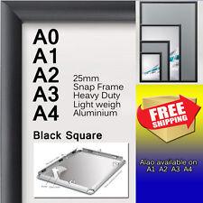 A0 A1 A2 A3 A4 PREMIUM Aluminum Snap poster frame Sign holder wall mount Black