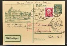 GERMANY 1928 King F on Beethoven Music Airmail Picture 2 PSC Card Köln-Berlin !!