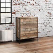 Urban Wood and Metal Rustic 4 Drawer Chest 100cm x 84cm x 40cm