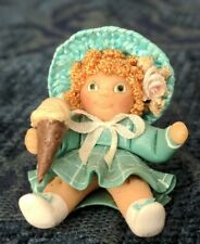 Vintage Miniature Dollhouse Cabbage Patch  Polymer Clay Doll w/ ice cream RB 84