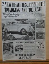 1938 magazine ad for Plymouth - Roadking, ride comfort, safety speedometer
