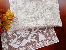 Set 10 Vintage Handmade Italian Knotted Lace Placemats Grapes Vineyard Sardinia