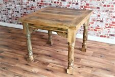 Extending Oak Style Hardwood Dining Table - Seats up to 4-8 Rustic Farmhouse