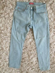 Supreme - Stone Washed Slim Jeans light wash Sz. 32 x 31