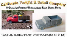 1975 FORD FLATBED PICKUP w/PLYWOOD SIDES N/1:160-Scale California Freight NEW!