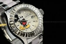 Invicta 38mm Disney Limited Edition Silver Tone Mickey Mouse Tortoise Ss Watch