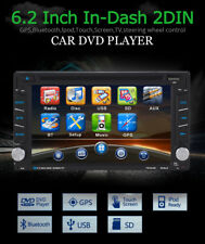 6.2''Autoradio DVD Giocatore 800*480 Touch screen BT FM MP3 Universal GPS 2 Din