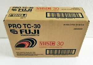 10 Fuji VHS-C Pro TC30 Camcorder Videocassette Premium High Grade
