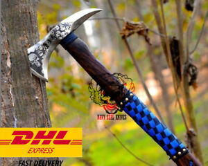 Halloween CARBON STEEL Axe Hand Forged skull Tactical camping edc hammer tool