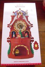 Hallmark 2017 Santas Christmas Clock Tabletop Remote Magic NIB Sold Out Fr Ship