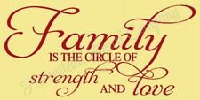 """Reusable Stencil 8436 N 12""""x24"""" Family Is The Circle- Mylar Sign Stencil"""