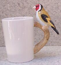Coffee Mug Novelty Bird Handle European Goldfinch NEW 13.5 ounce cup w/ gift box