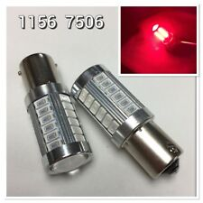 Rear Signal 1156 BA15S P21W 7506 33SMD 180° Red RV Reverse LED K1 For Audi VW E