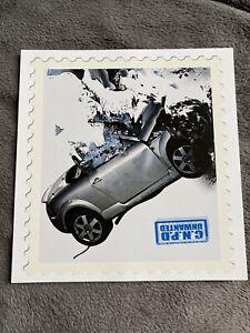 """james cauty - Car Crash 7"""" X 7"""" Print"""