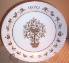 Spode England Bone China Christmas Plate~1970~Partridge in Pear Tree~F-1285~G134