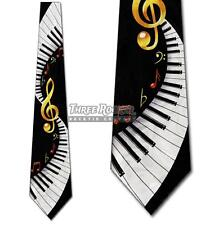 Keyboard Ties Music Necktie Mens Treble Clef Swirl Neck Tie NWT