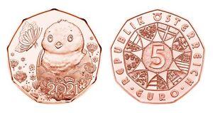 #RM# 5 EURO COMMEMORATIVE AUTRICHE 2021 - EASTER