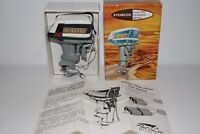 K&O Toy Outboard Boat Motor, 1959 Evinrude Lark 35 HP with Original Box