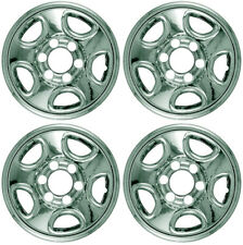 "New Set of 4 16"" Chrome Wheel Skins for 99-05 Silverado Tahoe Sierra Steel Wheel"