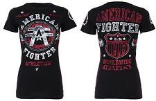 AMERICAN FIGHTER Womens T-Shirt DAVENPAINT Athletic BLACK Biker Gym MMA UFC $40