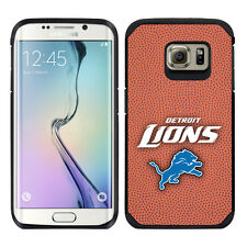 Samsung Galaxy S6 EDGE ONLY Detroit Lions NFL Football Pebble Grain Feel Case