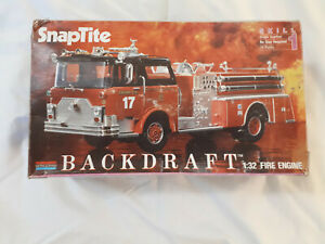 Monogram Backdraft 1:32 SnapTite Fire engine started spares or repair.