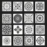 16pcs Mandala Reusable Stencil Cut Wall Tile Paint  Painting Template Making
