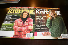Creative Knitting September 2007 and 2009 Lot of 2 Knitting Pattern Magazines