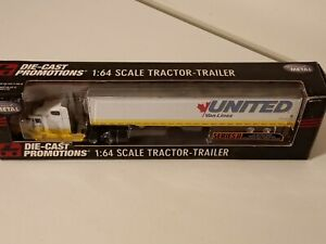 Dcp. Diecast Promotions.Tractor-trailer.1/64. United Van-lines. 30980. See text.