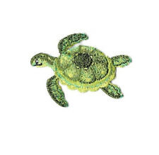 Sea Turtle -  Green Sea Turtle - Embroidered Iron On Applique Patch