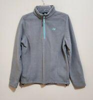 New Balance Women's Gray Zip Up Long Sleeve Fleece Jacket Size Small Medium